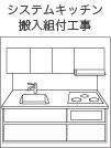 システムキッチン搬入組付工事