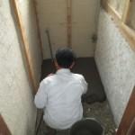関市 水廻りリフォーム コンクリート打設