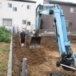 美濃市 住宅新築工事 ベタ基礎工事・掘削砕石敷/C様邸