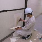 某ショッピングセンター トイレ改修工事 クロス・床長尺シート貼工事