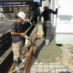 岐阜市 2世帯住宅新築工事 外構工事 土間コンクリート打設/B様邸