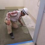 某ショッピングセンター トイレ改修工事 左官補修工事
