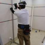 某ショッピングセンター トイレ改修工事 トイレブース取付工事