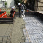 岐阜市 住宅新築工事 土間コンクリート打設