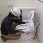 某ショッピングセンター トイレ改修工事 衛生器具取付工事