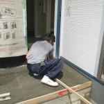 岐阜市 2世帯住宅新築工事 左官・タイル工事 玄関ポーチタイル貼/B様邸