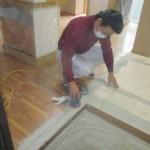 岐阜市 デイサービス新装工事 内装床のクッションフロアー貼・壁プラスターボード貼等いろいろです。