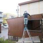 関市西本郷通において解体工事をしています。