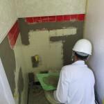 愛知県 某工場様 WC修繕工事 左官補修工事