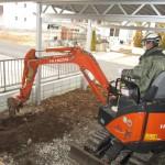 美濃市 住宅新築工事 駐車場土間工事/C様邸