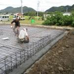 美濃市 住宅新築工事 ベタ基礎工事・基礎配筋/C様邸