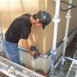 岐阜市 2世帯住宅新築工事 外壁工事 透湿シート貼/B様邸