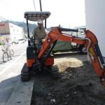 岐阜市 2世帯住宅新築工事 外構工事 駐車場土間工事/B様邸