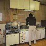 関市 ダイニング・キッチン床改修工事 解体工事