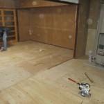 関市 ダイニング・キッチン床改修工事 木工事