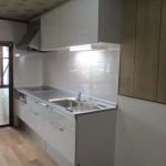 関市 ダイニング・キッチン床改修工事 クリーニング