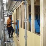 美濃市 住宅新築工事 木工事・外部PB貼 金属製建具工事・サッシ取付/C様邸