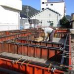 岐阜市 住宅新築工事 基礎立上りコンクリート打設